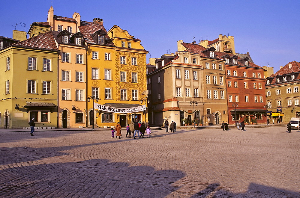Town houses on the Royal Castle Square, Poland, Europe
