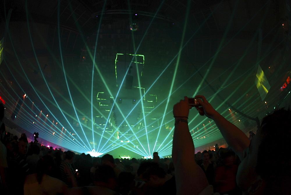"""Techno festival """"Mayday 2008"""", Dortmund, North Rhine-Westphalia, Germany, Europe"""
