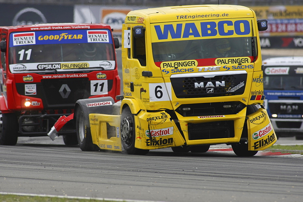 Race Trucks during the Truck Grand Prix at the Nuremberg Racetrack, Rhineland-Palatinate, Germany, Europe