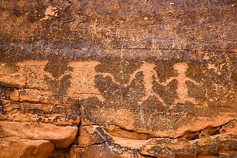 Anasazi petroglyphs, Valley of Fire State Park, Nevada, USA