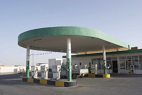 Petrol station in Libya