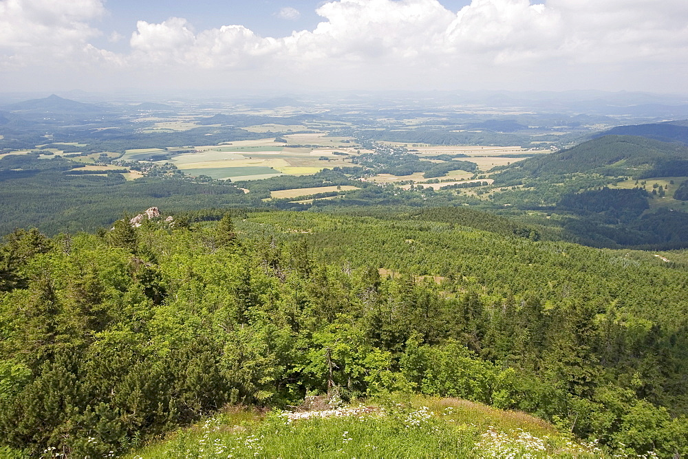 View from Jested, 1012 m, Liberec, Czech Republic