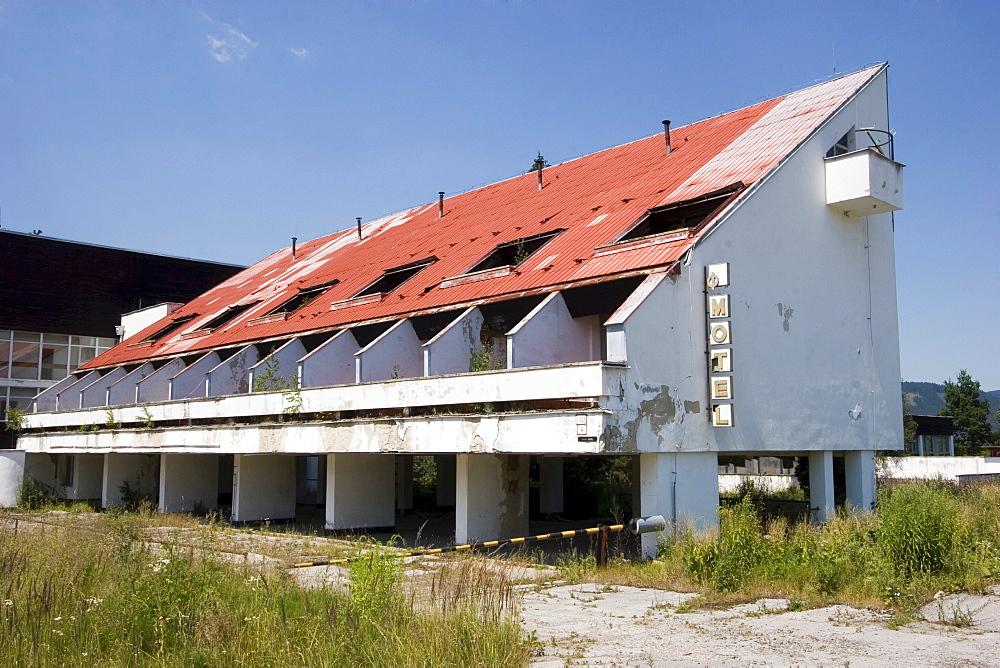 Old dilapidated motel, Slovakia