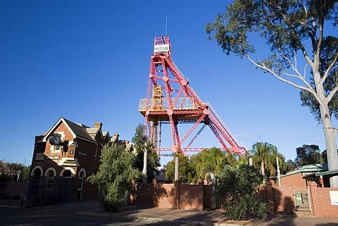 Museum of the Goldfields, winding tower, Kalgoorlie, Western Australia, WA, Australia