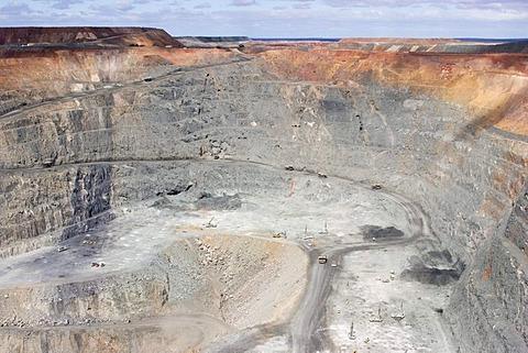 Super Pit (gold mine) Lookout, Kalgoorlie, Western Australia, WA, Australia