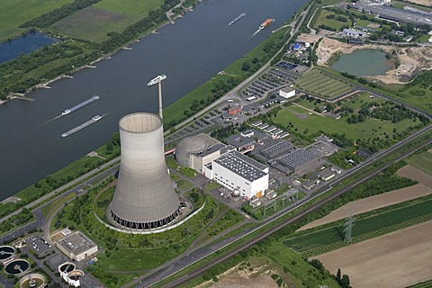 Atomic power plant Mulheim-Karlich, Rhineland-Palatinate, Germany