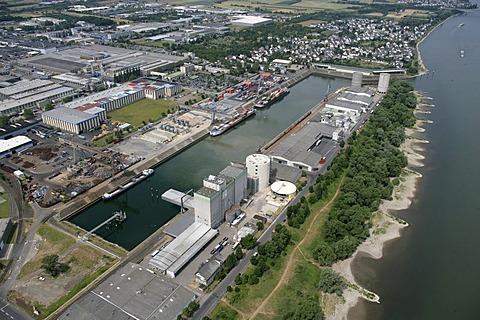 Harbor of Koblenz, Rhineland-Palatinate, Germany
