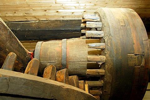 Cogwheels of an old oilmill in Birkenfeld Rhineland-Palatinate Germany