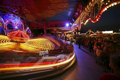 Fairground ride in an amusement park