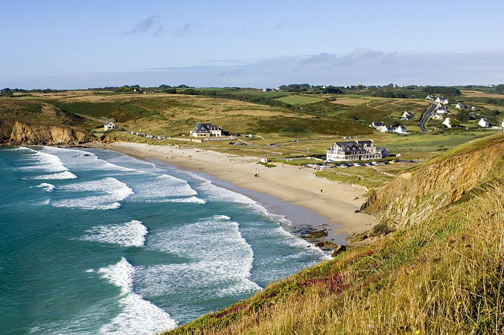 Coastal area between Pte. du Raz and Pte. du Van, Bretagne, France, Europe