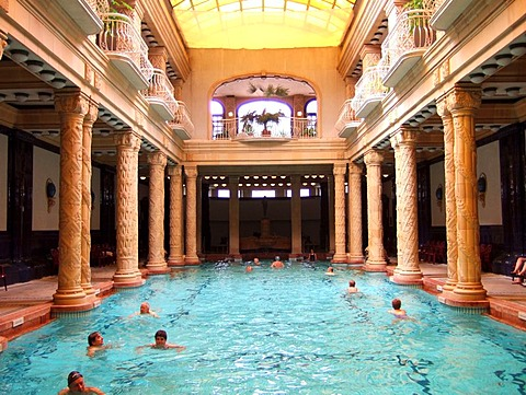 Swimming pool of the Gellert therapeutic bath, Budapest, Hungary - 832-362434