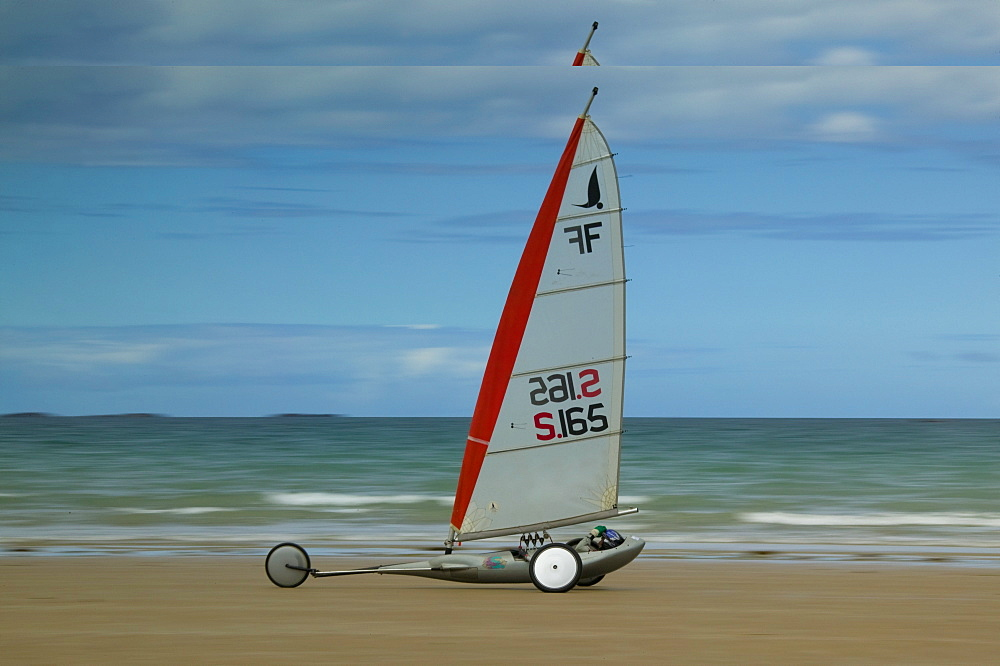 Aerosport, beach, Erquy, Bretagne, France