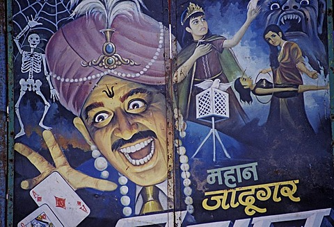 Advertising of a magician Anandpur Sahib, Punjab, India