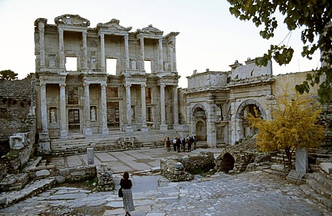 Celsus library in that antique city Ephesos, Turkey.
