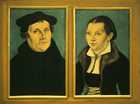 Martin Luther and Katherine von Bora portrayed by Lucas Cranach the elder