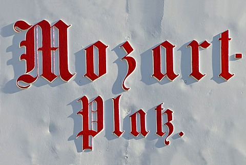 Plate at Mozartplatz Salzburg Austria