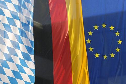 Flag Bavaria Germany Europe