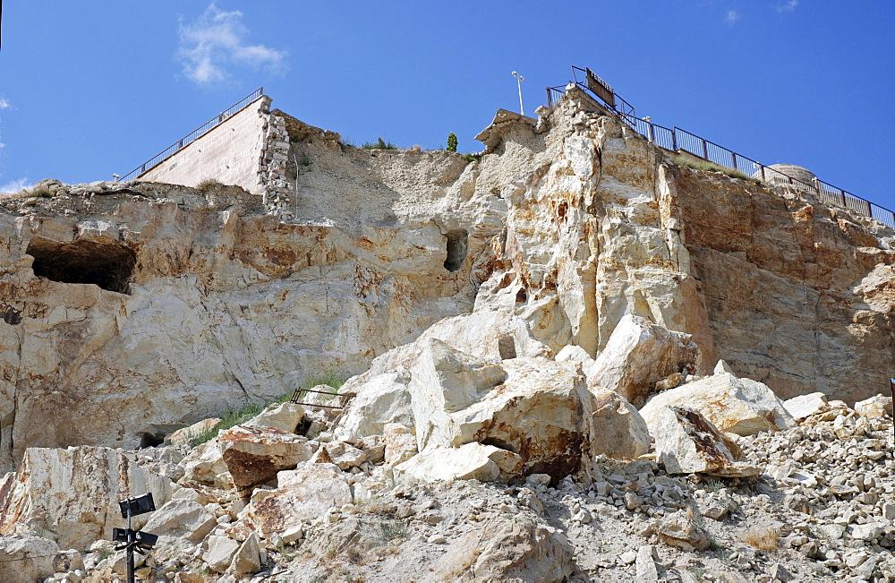 Stone-avalanche, Uerguep, Cappadocia, Turkey