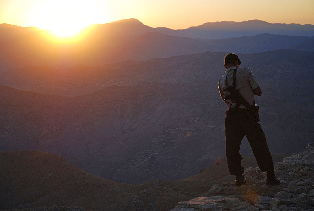 Soldier, Nemrut Dagi, Anatolia, Turkey