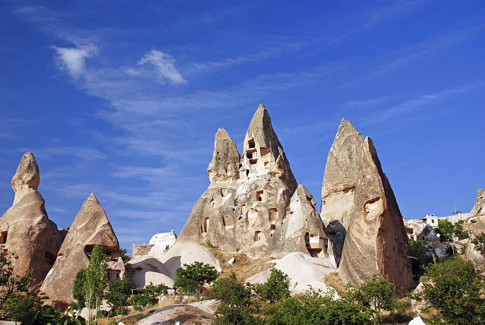 Tuff rock from Uchisar, near by Goereme, Cappadocia, turkey