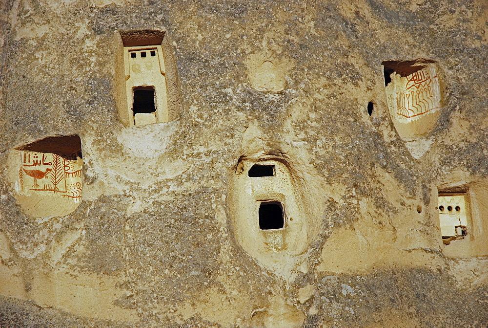 Uchisar Castle hill, Cappadocia, Turkey