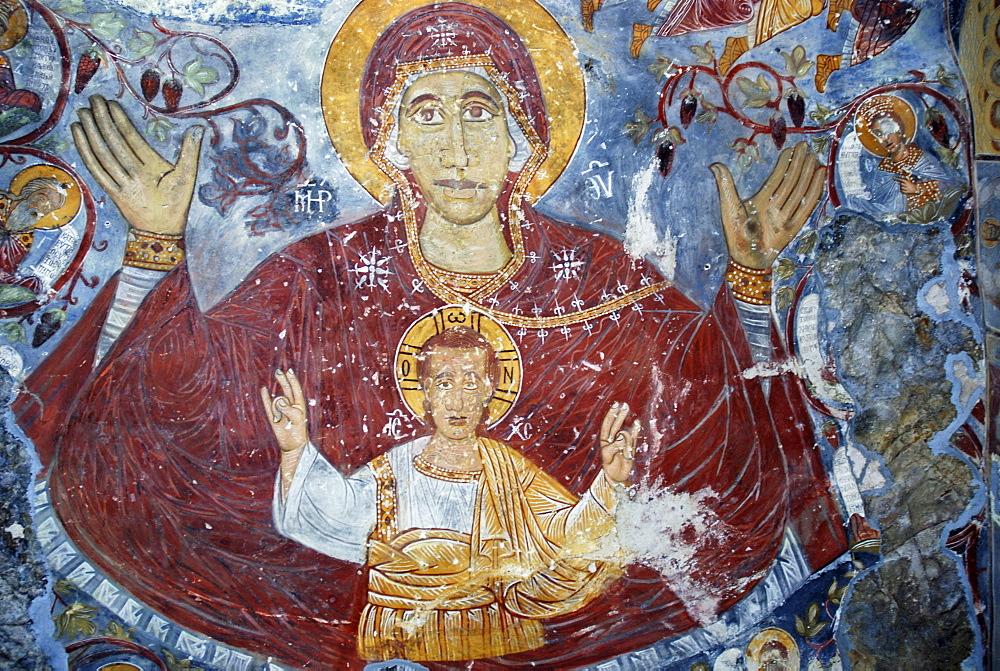 Fresco, Sumela Monastery, Trabzon, Turkey