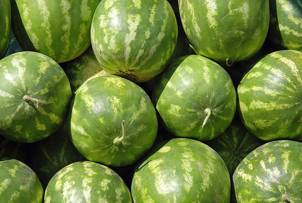 Watermelons, market, Mardin, Anatolia, Turkey
