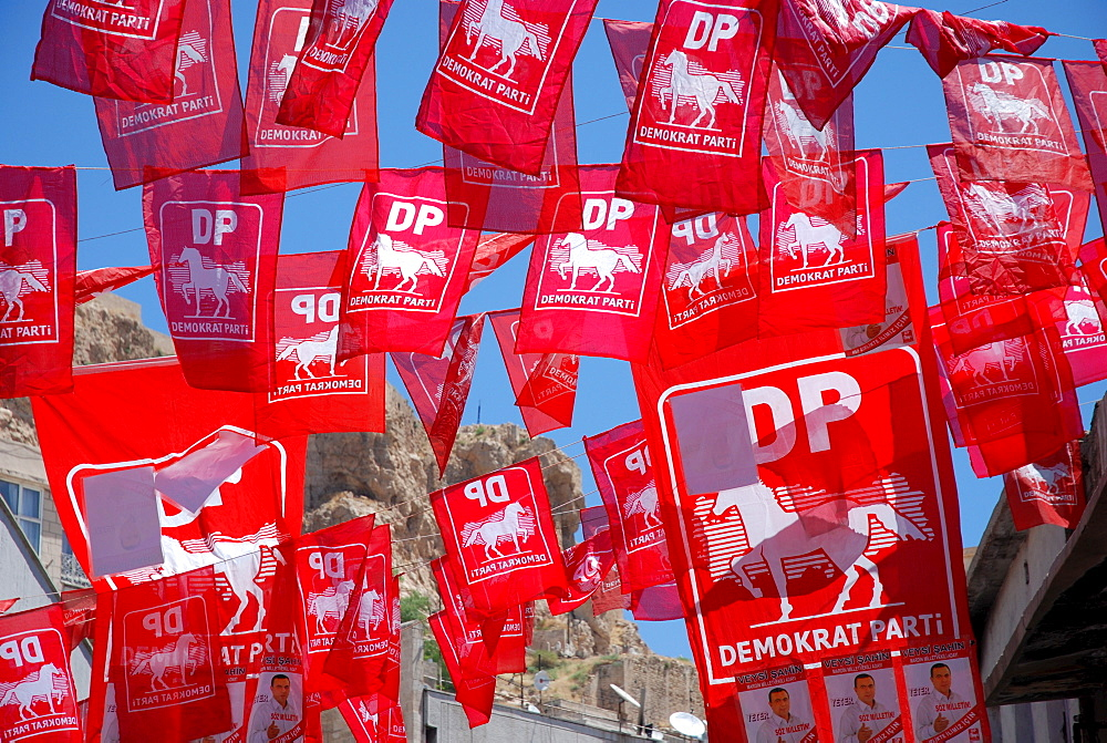 Flags of the democratic party, Turkey