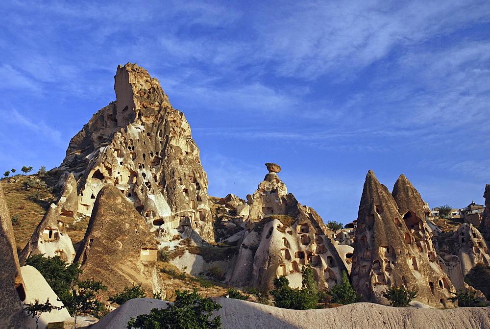 Mountains of Uchisar, Cappadocia, Turkey