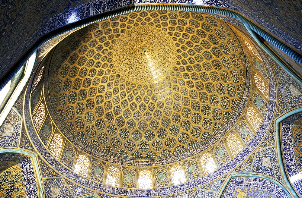 Inner dome of the Sheikh Lotf Allah Mosque, Isfahan, Iran