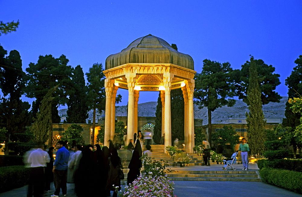 Hafez mausoleum, place of pilgrimage for lovers, Shiraz, Iran