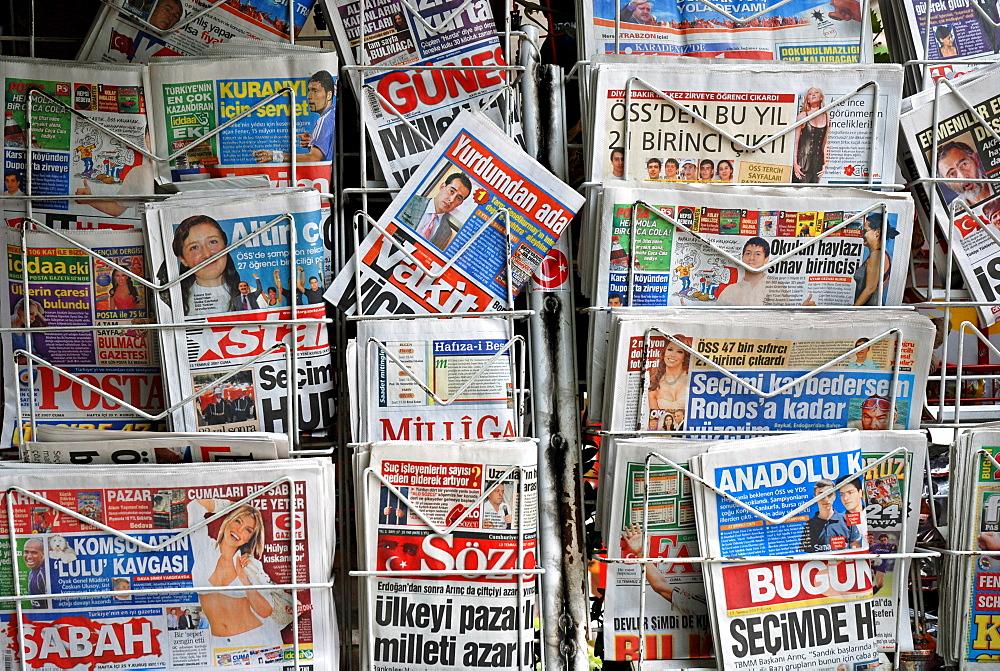 Newspaper stand, Yusufeli, East Anatolia, Turkey