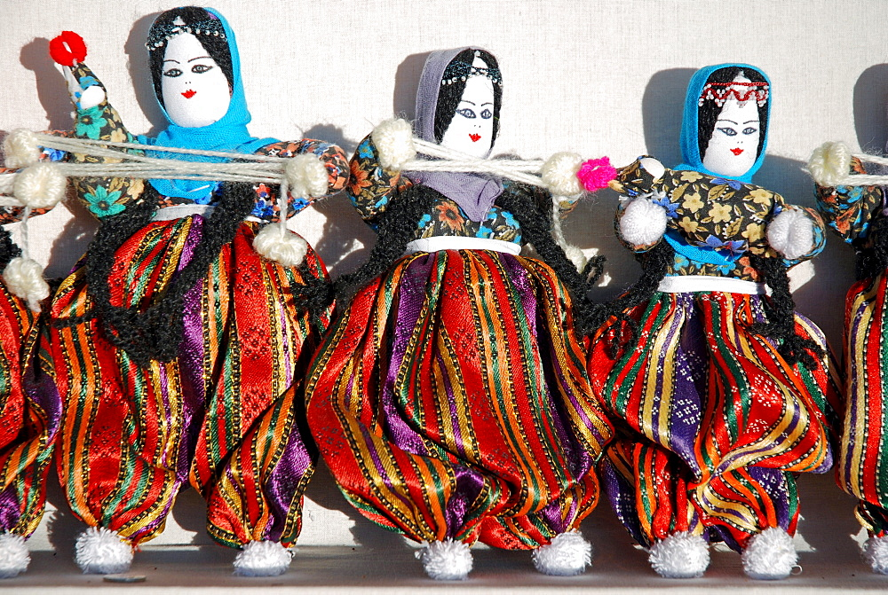 The famous handmade dolls from Cappadocia, Anatolia, Turkey
