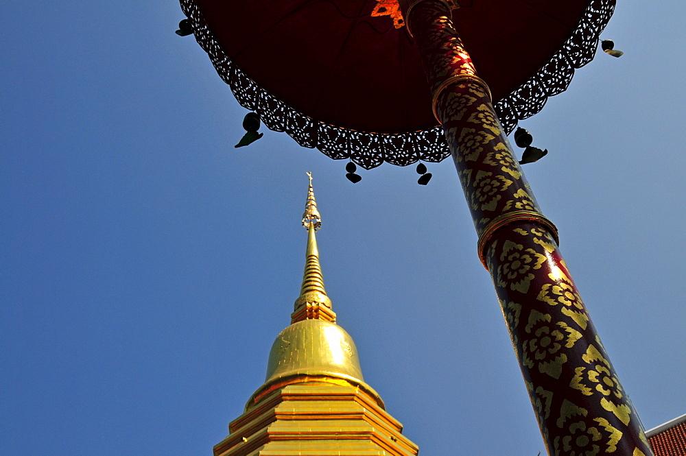 Sareerikkatartsirirak Pagoda at Wat Phan On, inaugurated by King Bhumipol on June 9, 2007, Chiang Mai, Thailand, Southeast Asia, Asia