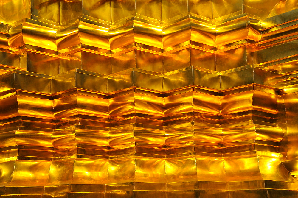 Golden shingles, Wat Phan On, inaugurated by King Bhumipol on June 9, 2007, Chiang Mai, Thailand, Southeast Asia, Asia