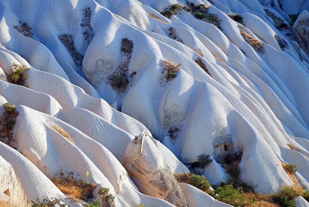 Tuff rock landscape near Goereme, Cappadocia, Anatolia, Turkey, Asia