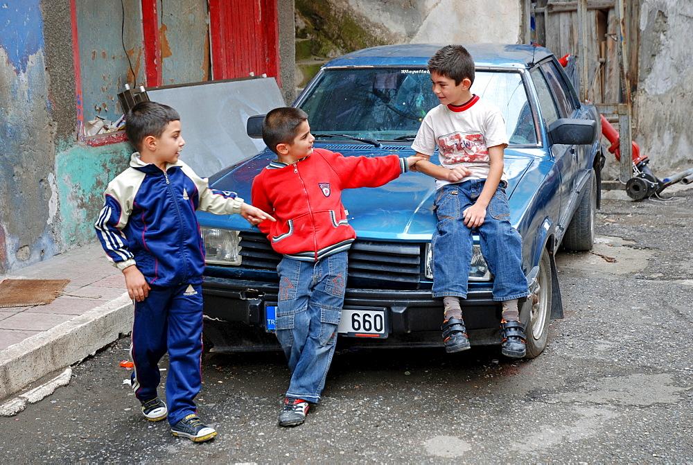 Children, Yusufeli, Kackar Mountains, northeastern Anatolia, Turkey, Asia