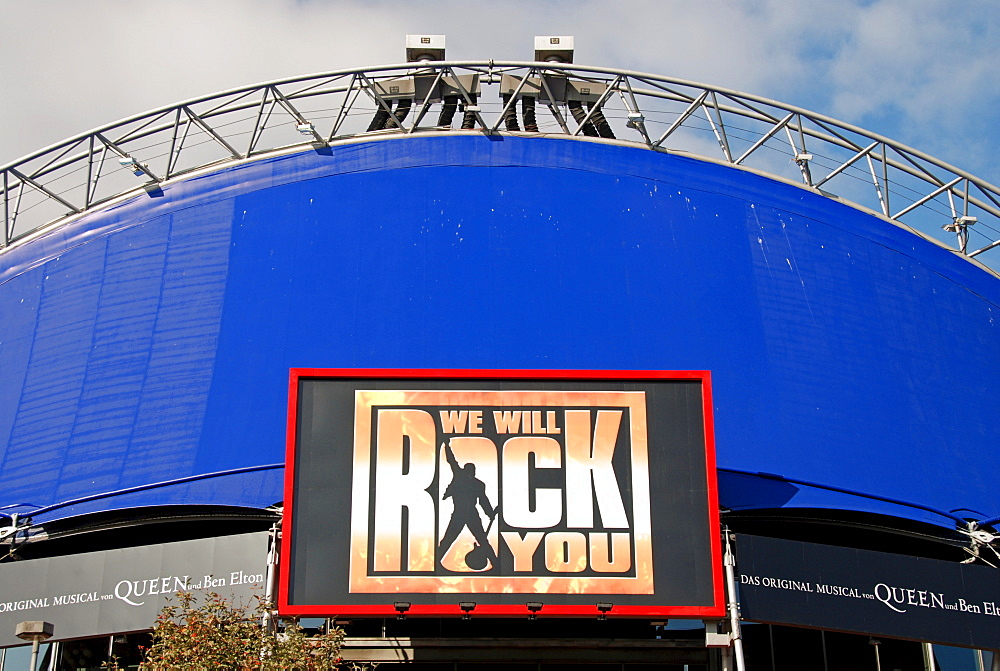 Musical tent (We Will Rock You), Cologne, North Rhine-Westphalia, Germany, Europe