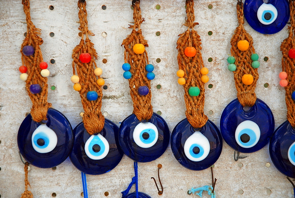 Hamsa, Eye of Fatima, Hand of Fatima amulets to guard against the evil eye, Anatolia, Turkey