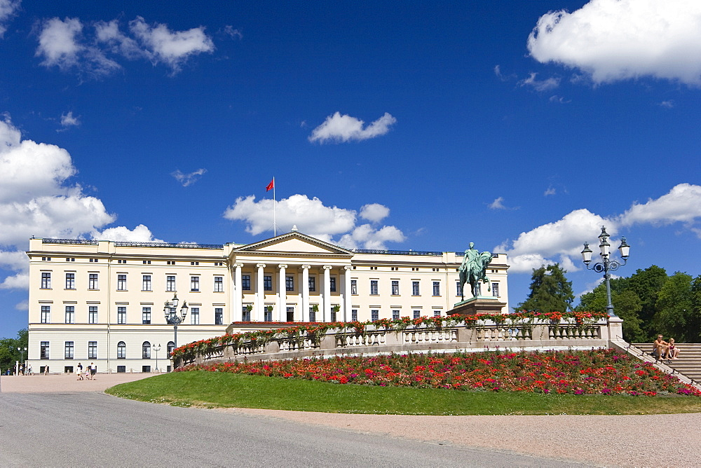 The Royal Palace in Oslo, Norway, Scandinavia, Europe