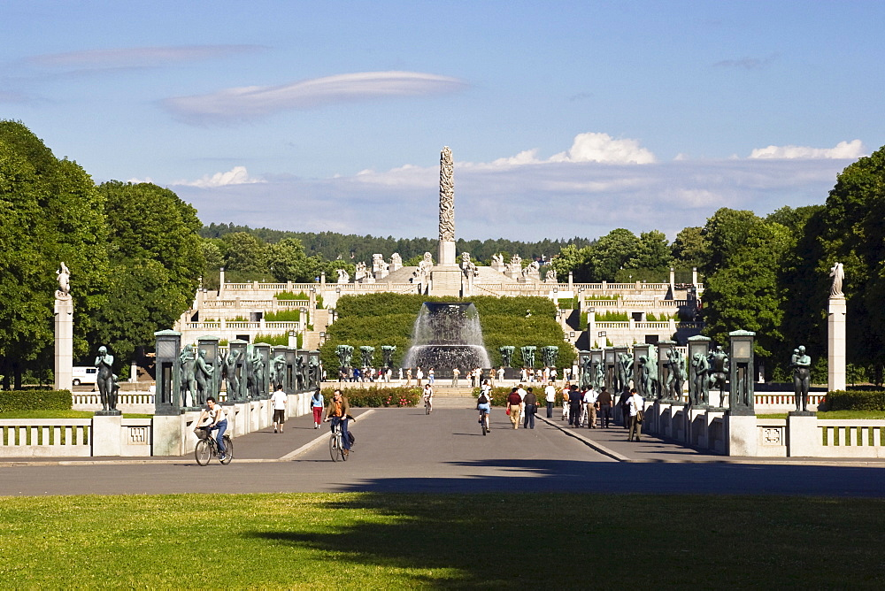 Vigeland Sculpture Park, Frogner Park, Oslo, Norway, Scandinavia, Europe