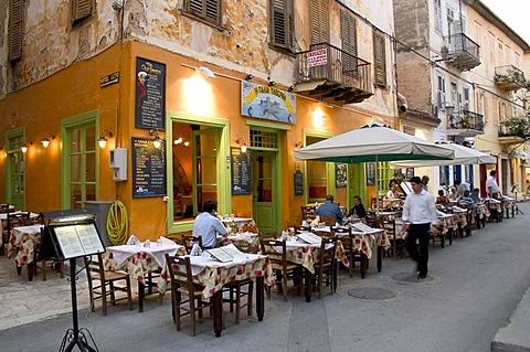 Restaurants in Odos Staikopoulou, Nafplio, Peloponnese, Greece