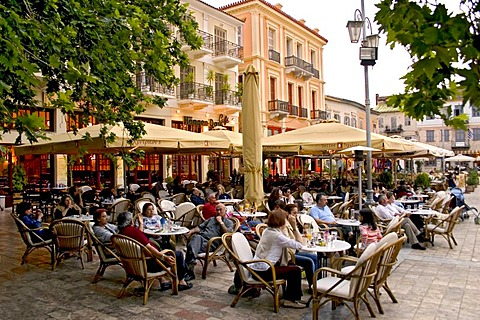 Place with cafe in Nafplio, Peloponnese, Greece