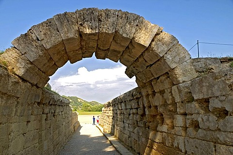 Olympia, passage to the stadium, Peloponnese, Greece