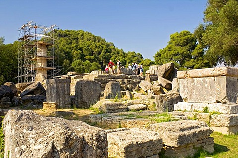 Temple of Zeus, Olympia, Peloponnese, Greece