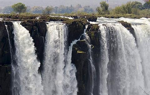 Detail, waterfall, Victoria Falls, Zimbabwe, Africa