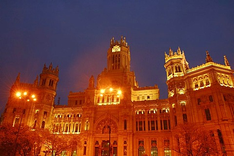 Main Post Office , Casa de Correos y Telegrafos , Madrid , Spain , Europe