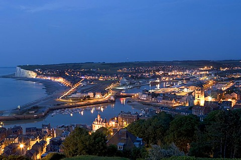 City view , Le Treport , Seine-Maritime , Normandy , France , Europe