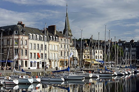 Vieux Bassin , Honfleurs , Calvados , Normandy , France , Europe