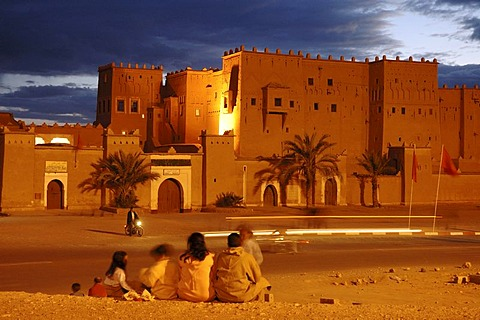 View on the Kasbah , Ouarzazate , Morocco , Africa